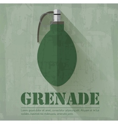 Grunge military grenede icon background concept vector