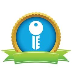 Gold key logo vector