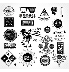 Hipster label icon elements vector