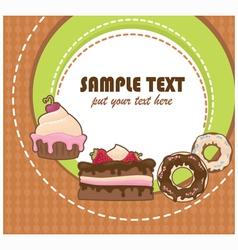 Cakes card vector