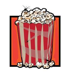 Halloween popcorn vector
