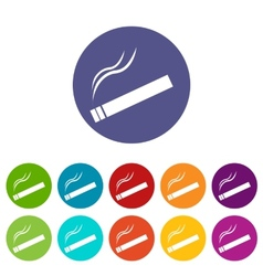 Cigarette flat icon vector
