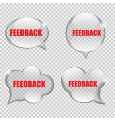 Glass transparency feedback speech bubble vector