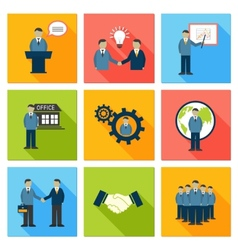 Collection of flat business people vector
