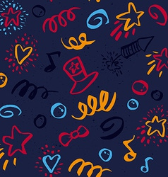 Seamless pattern on 4 july vector