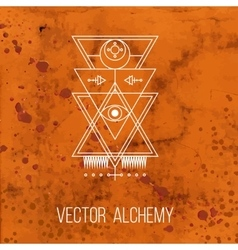 Geometric alchemy symbol vector