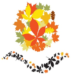 Autumn decor elements vector