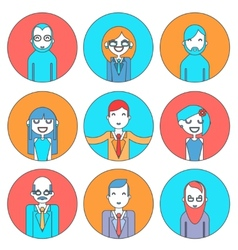 Businessman male and female avatars director vector
