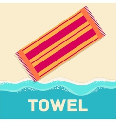 Retro flat towel concept design vector