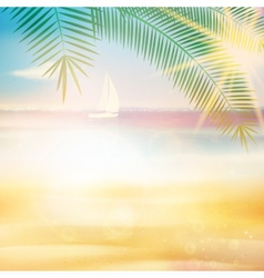 Ocean view from beach with retro look vector