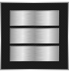 Metallic banners vector