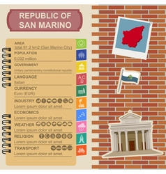 San marino infographics statistical data sights vector