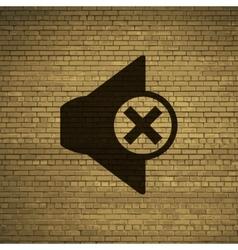 Mute speaker icon symbol flat modern web design vector