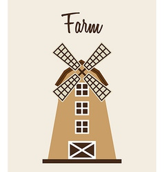 Farm windmill vector