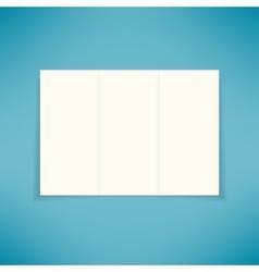 Empty three fold brochure leaflet flyer design vector