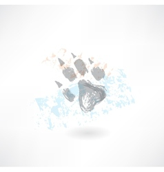 Animals footprint grunge icon vector