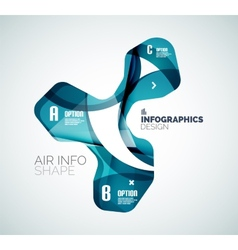 Modern fresh wave business infographics vector