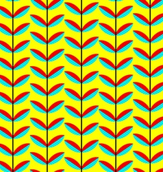 Seamless patternt with abstract leaves background vector
