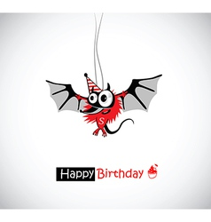 Happy birthday mouse vector