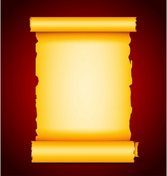 Gold scroll vector