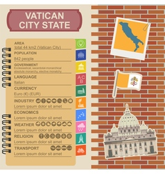 Vatican infographics statistical data sights vector