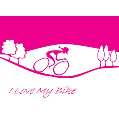 I love my bike card vector