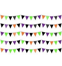 Halloween flags or bunting isolated on white vector