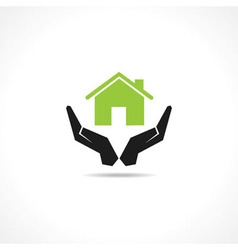 Secure home concept vector