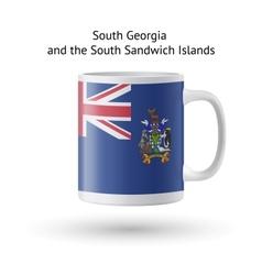 South georgia and sandwich islands flag souvenir vector