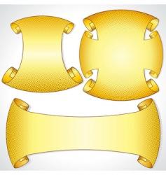 Heraldic scrolls vector