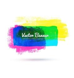 Watercolor banner vector
