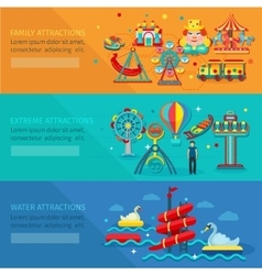 Amusement park banner vector