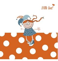 Happy birthday orange vector