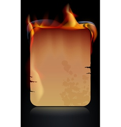 Burning paper vector