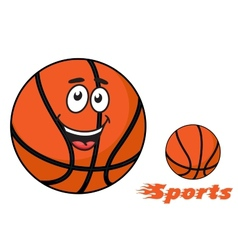 Basketball ball with flaming sports text vector