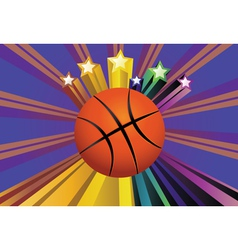 Basketball ball background2 vector
