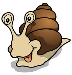 Cheerful snail vector
