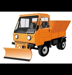 Street cleaning lorry vector