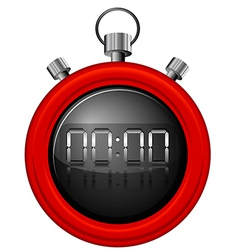 A red timer vector