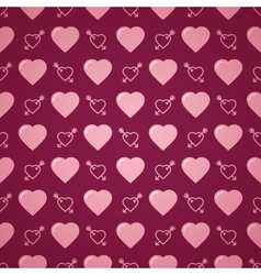 Lovely heart romantic pattern vector