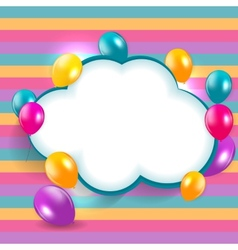 Glossy balloons background eps vector