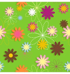 Flora flower seamless pattern design vector