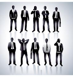 Men in black suits vector