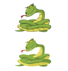 Girl snake set vector