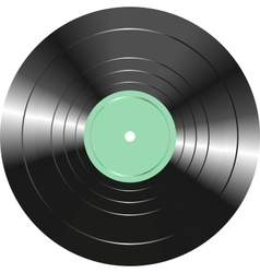 Vintage vinyl record isolated on white background vector