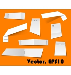 Paper scraps and notes attached with stapler vector