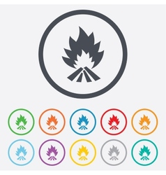 Fire flame sign icon heat symbol vector