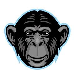 Chimp head vector