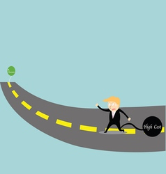 Businessman chasing success vector
