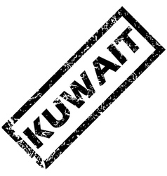 Kuwait rubber stamp vector